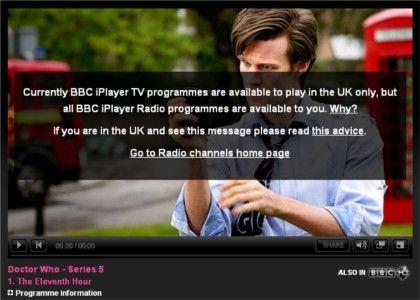 BBC iPlayer proxy