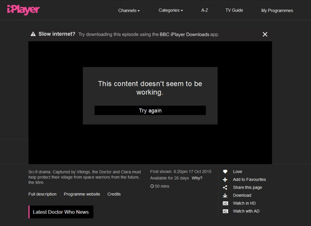 Can BBC iPlayer detect VPN Servers
