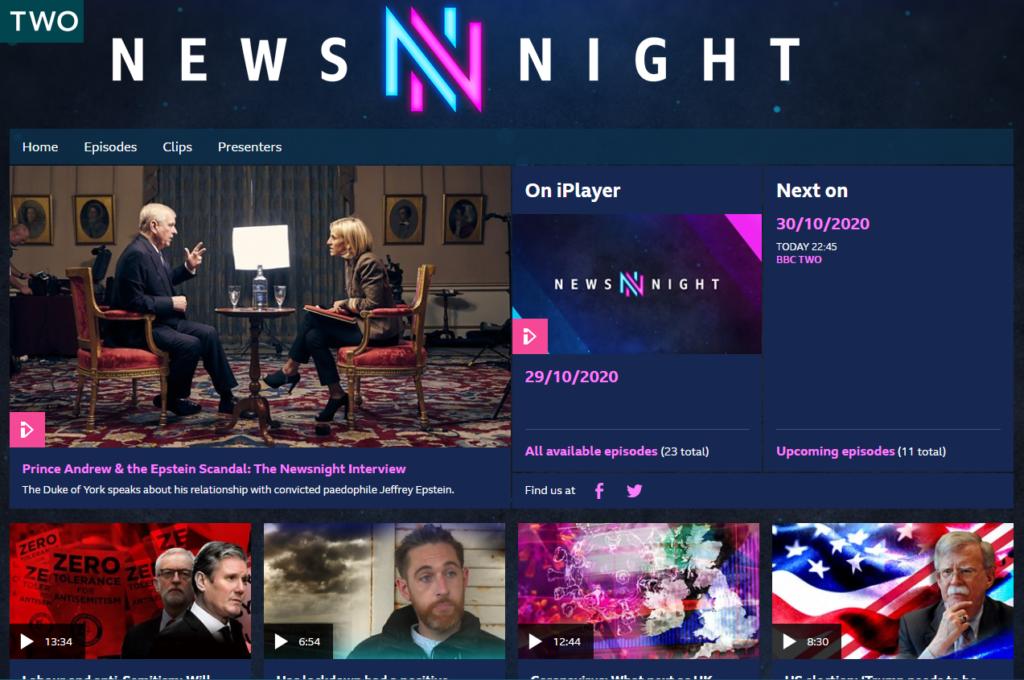 Newsnight on bbc stream usa