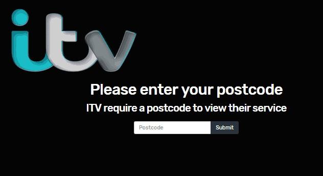 valid postcode for itv